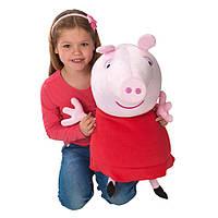 Мягкая игрушка свинка Пеппа большая 62см, фото 1