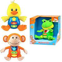Игрушка музыкальнаяHA 801 NL, 2 вида (лягушка, обезьянка), музыка, свет, на бат-ке.