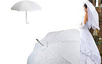 Свадебный зонт-трость