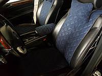 Накидки на сиденья темно-синие. Передний комплект. СТАНДАРТ. Авточехлы