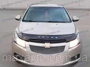 Дефлектор капота Chevrolet Cruze с 2009 г.в.(короткий) (Шевроле Крузе) Vip Tuning