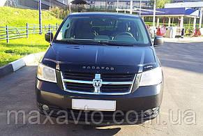 Мухобойка +на капот  DODGE Caravan V c 2007–2010 г.в. (Додж Караван) Vip Tuning