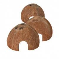 Trixie Kokosnuss Halbschale норка для рептилий натуральный кокосовый орех, 3шт