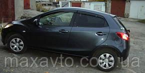 Дефлекторы стекол Mazda 2 II Hb 5d 2008/Demio 2007-2011 (Мазда 2) Cobra Tuning