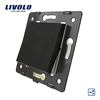 Механизм клавишный механический проходной выключатель Livolo черный (VL-C7K1S-12), фото 1