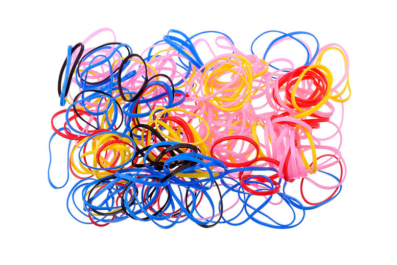 Резиночки для волос маленькие силикон цветные