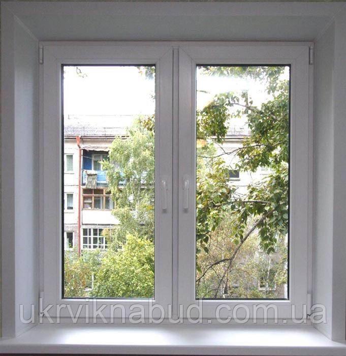 Металлопластиковое окно со штульповым открыванием ALMPlast в Киеве недорого. Окна Киев. Цены на окна