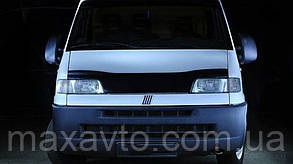 Мухобойка +на капот  Fiat Ducato с 1994-2002 г.в.до ресталинга (Фиат Дукато) Vip Tuning