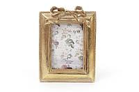 Рамка для фото 9*12см Бант, цвет - состаренное золото (450-119)