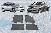 Автоковрики резиновые в авто Chevrolet Aveo Lacetti ковры в салон Авео Лачети CARGUMM