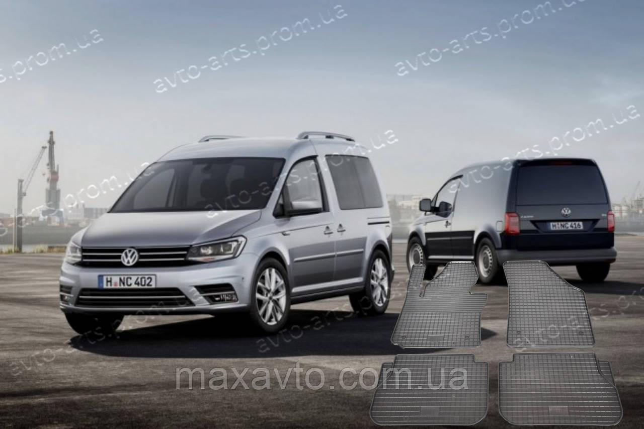 Автоковрики резиновые в салон Volkswagen Caddy 2004-2018 VW Caddy ковры в салон фольцваген кади