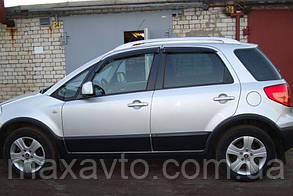 Дефлекторы окон Fiat Sedici Hb 2005 (Фиат седичи) Cobra Tuning