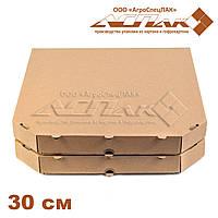 Коробка для пиццы 300х300х32 бурая
