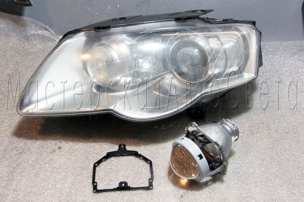 Volkswagen Passat B6 - замена линз Valeo на бинксеноновые Hella 3R F1 Подробнее: https://headlightuning.kiev.ua/p387703260-volkswagen-passat-zamena.html