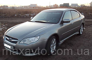 Дефлекторы боковых стекол Subaru Legacy IV Sd 2003-2009 (Субару Легаси 4) Cobra Tuning