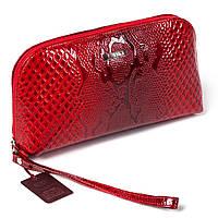 Женская косметичка красная из натуральной кожи Butun 657-008-006