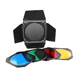 Набор Mircopro BD-200: шторки, соты, цветные фильтры