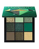 Палетка теней HUDA BEAUTY Emerald Obsessions Palette, фото 1