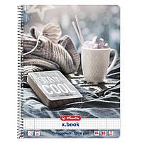 Блокнот Herlitz А4 80 листов клетка Winter Cozy Stay Cool