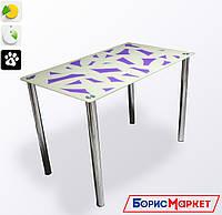 Обеденный стол стеклянный прямоугольный Осколки от БЦ-Стол