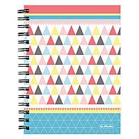 Блокнот Herlitz А5 100 листов клетка Graphic Pastel Mix
