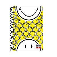 Блокнот Herlitz А6 200 листов клетка Smiley World Yellow