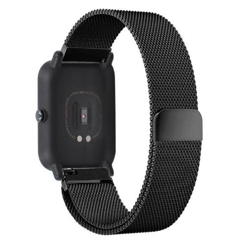 Ремешок миланская петля 20 мм для Xiaomi AMAZFIT Bip Black (Черный)