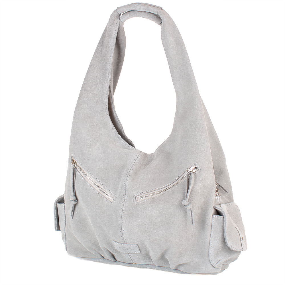 acd43cec1b48 Сумка-баул (хобо) Laskara Женская замшевая сумка LASKARA (ЛАСКАРА) LK-DM230-grey,  цена 4 111,25 грн., купить в Киеве — Prom.ua (ID#862617842)