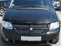Мухобойка +на капот  DODGE Caravan IV с 2001-2008 г.в (Додж Караван) Vip Tuning