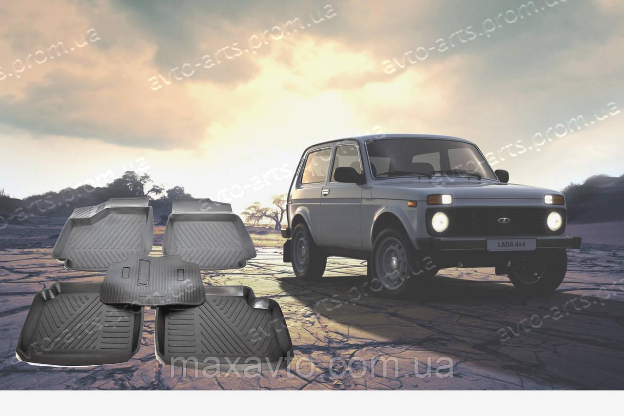 Автоковрики резиновые с бортом НИВА 2121 2123 ковры в салон нива Тайга Кедр Урбан