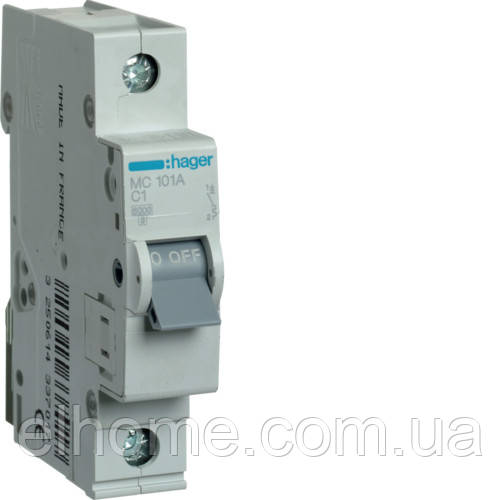 Автоматичний вимикач 1P 6kA C-1A 1M