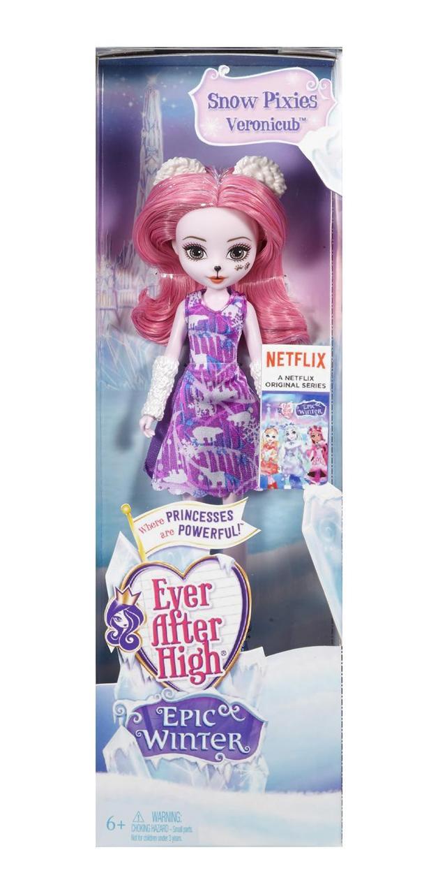 """Кукла-пикси Ever After High Хранительница медведей """"Заколдованная зима"""""""