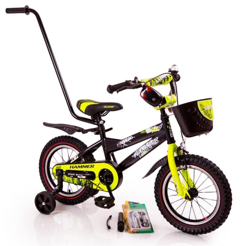 """Детский Велосипед c родительской ручкой от 3 лет """"HAMMER-12"""" S600"""