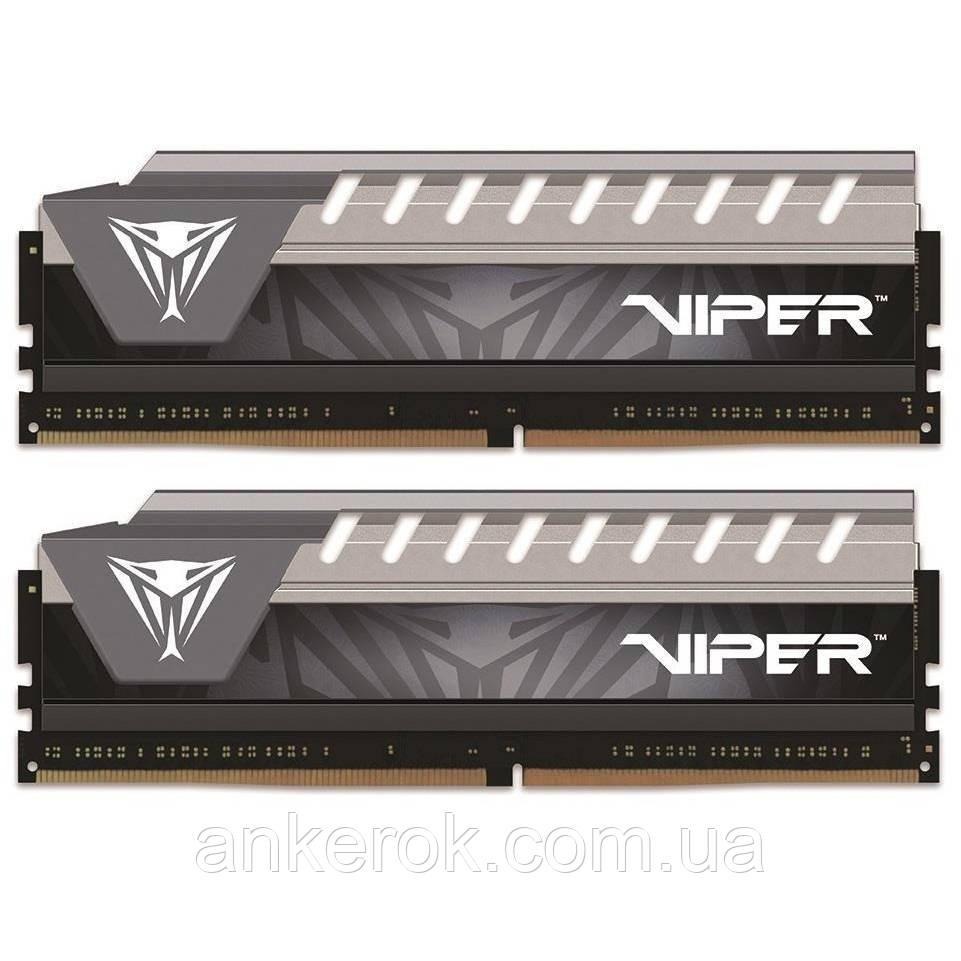 Оперативна пам'ять PATRIOT 16 GB (2x8GB) DDR4 2666 MHz Viper Elite Black/Gray (PVE416G266C6KGY)