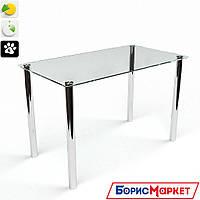Обеденный стол стеклянный прямоугольный Прозрачный от БЦ-Стол 910х610 *Эко