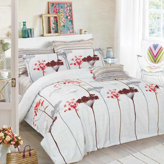 Комплект постельного белья из элитного сатина Зонтики
