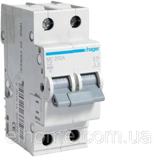 Автоматичний вимикач 2P 6kA C-0.5A 2M