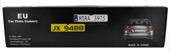 Камера заднего вида в рамке номерного знака A58 с подсветкой