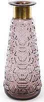 Ваза для цветов Ancient Glass настольная Ø14х35.5см, фиолетовое стекло