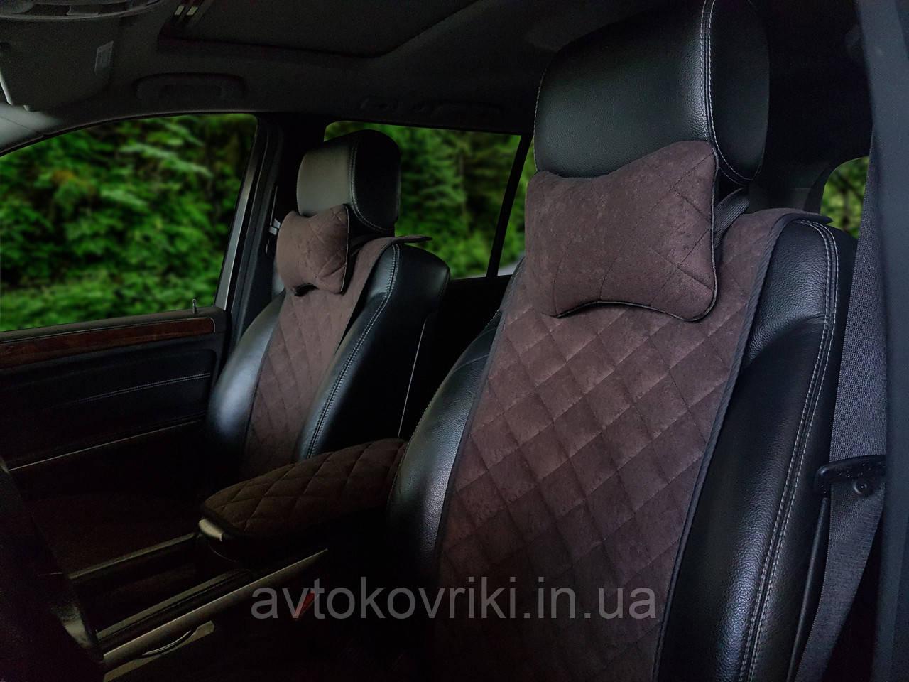 Накидки на сиденья темно-коричневые. Передний комплект. СТАНДАРТ. Авточехлы - фото 3