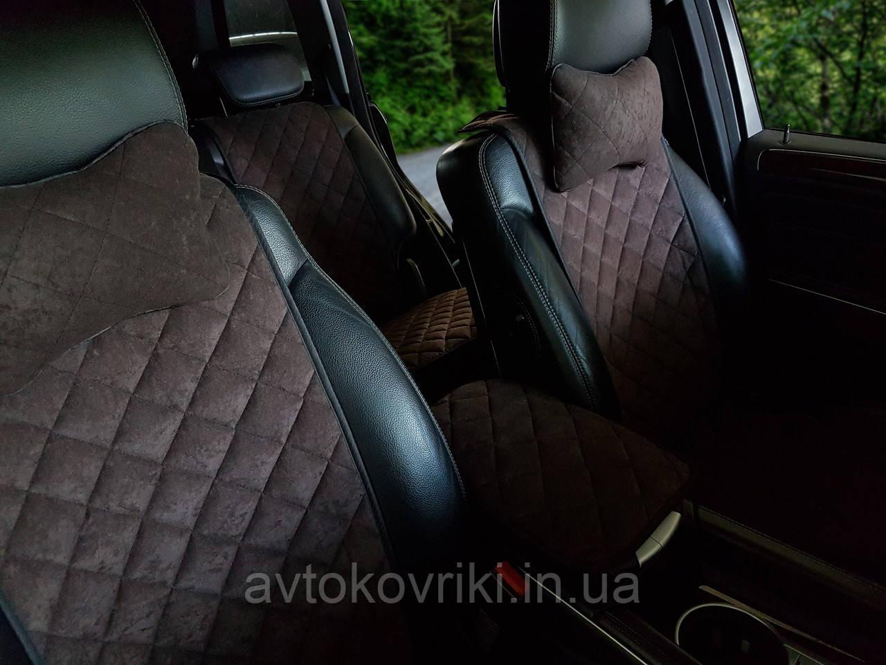 Накидки на сиденья темно-коричневые. Передний комплект. СТАНДАРТ. Авточехлы - фото 7