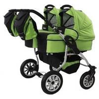 Универсальная коляска  для двойни 2 в 1 Trans baby Jumper Duo