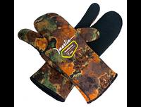 Перчатки для дайвинга Marlin Nord трехпалые 7mm Brown 3XL