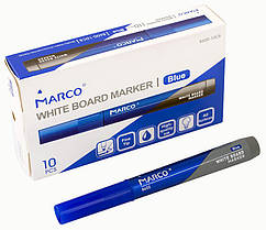 Маркер Board для сухого стирания Marco синий,круглый