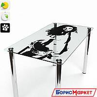 Обеденный стол стеклянный прямоугольный Силуэт от БЦ-Стол