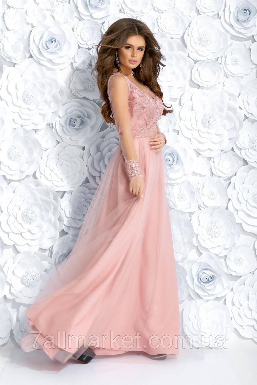 33fbbc63ee1bea9 ... Платье женское вечернее с гипюром, размеры 42-46 (4цв) Серии
