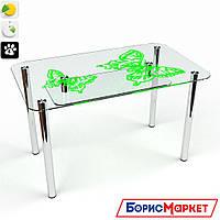 Обеденный стол стеклянный прямоугольный Фоли S-2 от БЦ-Стол 910х610 *Эко