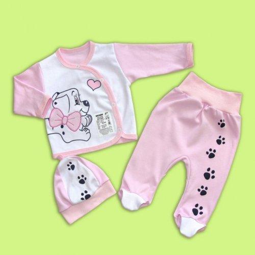 Комплект для малышей 100% хлопок РОЗОВЫЙ И ГОЛУБОЙ!!!