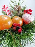 Букет из мыла Новогодний Мандарины, Шоколад и хвоя в Зеленой Лейке, фото 7