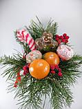 Букет из мыла Новогодний Мандарины, Шоколад и хвоя в Зеленой Лейке, фото 4